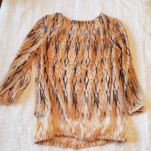 The Limited sheer watercolor-like print blouse euc